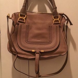 Chloe Marcie Medium Satchel Bag Nut
